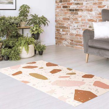Vinyl-Teppich - Detailliertes Terrazzo Muster Pisa - Querformat 2:1