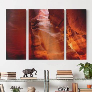 Leinwandbild 3-teilig - Antelope Canyon - Triptychon