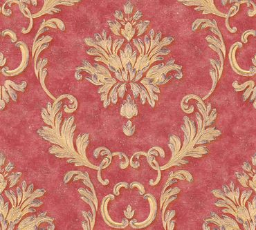 Architects Paper Mustertapete Luxury wallpaper in Metallic, Rot