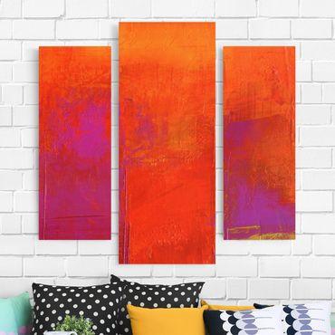 Leinwandbild 3-teilig - Magenta Energy - Galerie Triptychon