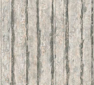 A.S. Création Streifentapete Best of Wood`n Stone 2nd Edition in Beige, Metallic, Schwarz