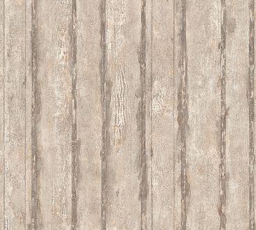 A.S. Création Streifentapete Best of Wood`n Stone 2nd Edition in Beige, Grau, Metallic