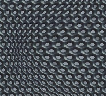 Livingwalls Mustertapete Harmony in Motion by Mac Stopa in Grau, Metallic, Schwarz