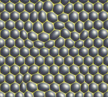 Livingwalls Mustertapete Harmony in Motion by Mac Stopa in Grau, Grün, Schwarz