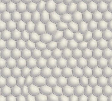 Livingwalls Mustertapete Harmony in Motion by Mac Stopa in Creme, Grau, Metallic