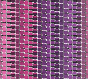 Livingwalls Mustertapete Harmony in Motion by Mac Stopa in Grau, Rot, Lila