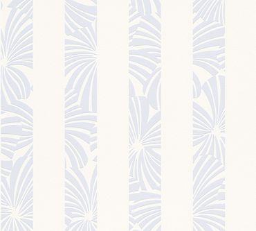 Esprit Streifentapete Esprit 12 Play in Summer in Blau, Creme, Weiß