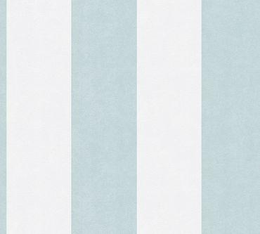 A.S. Création Streifentapete Memory 3 in Blau, Creme