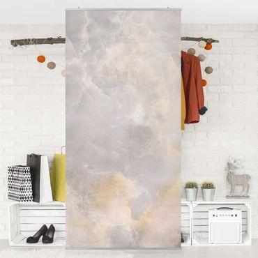 Raumteiler - Onyx Marmor Grau 250x120cm