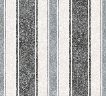 Livingwalls Streifentapete Jette 4 in Grau, Metallic, Schwarz