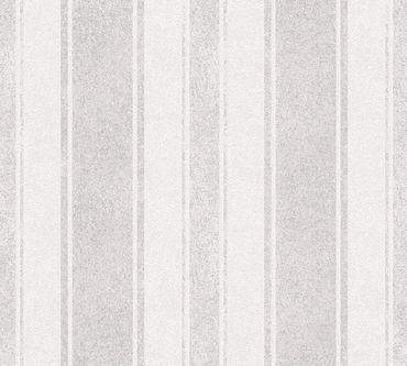 Livingwalls Streifentapete Jette 4 in Braun, Grau, Metallic