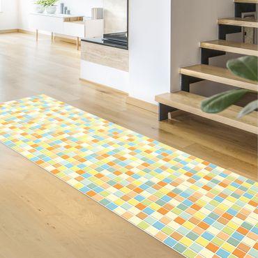 Vinyl-Teppich - Mosaikfliesen Sommerset - Panorama Hoch 1:3