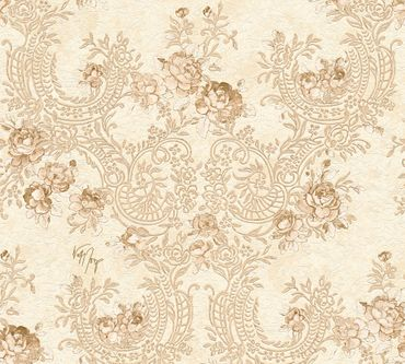 Architects Paper Mustertapete Kind of White by Wolfgang Joop in Beige, Braun, Metallic