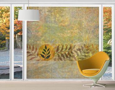 Fensterfolie - XXL Fensterbild Asia Muster - Fenster Sichtschutz