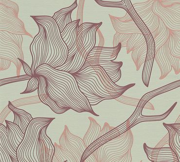 Lars Contzen Mustertapete Artist Edition No. 1 Dried Flowers in Grau, Lila