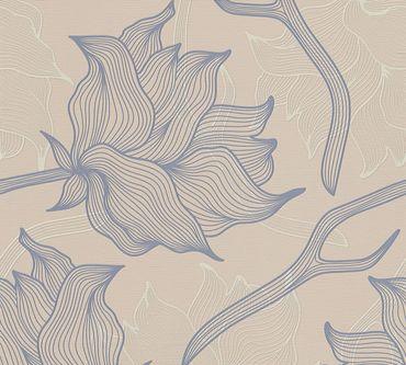 Lars Contzen Mustertapete Artist Edition No. 1 Dried Flowers in Beige, Grau