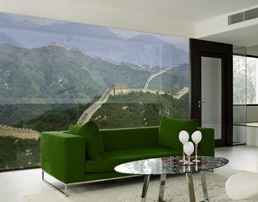 Fensterfolie - XXL Fensterbild Die chinesische Mauer im Grünen - Fenster Sichtschutz