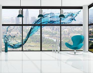 Fensterfolie - XXL Fensterbild Running Water - Fenster Sichtschutz