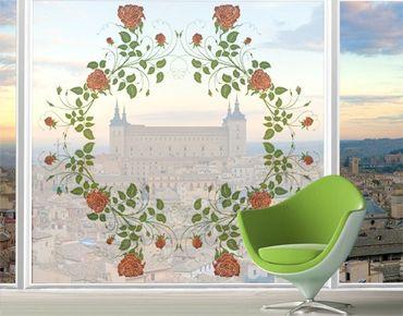Fensterfolie - XXL Fensterbild Rosenkranz - Fenster Sichtschutz