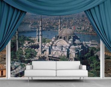 Fensterfolie - XXL Fensterbild Moschee Istanbul - Fenster Sichtschutz
