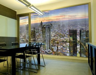Fensterfolie - XXL Fensterbild MAINhattan - Fenster Sichtschutz