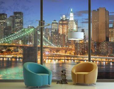 Fensterfolie - XXL Fensterbild Manhattan Panorama - Fenster Sichtschutz