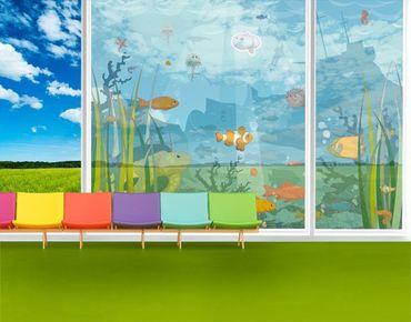 Fensterfolie - XXL Fensterbild No.EK57 Meereslandschaft - Fenster Sichtschutz