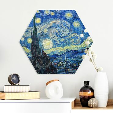 Hexagon Bild Forex - Vincent van Gogh - Sternennacht