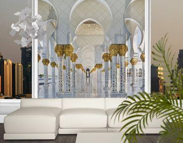 Fensterfolie - XXL Fensterbild Moschee in Abu Dhabi - Fenster Sichtschutz