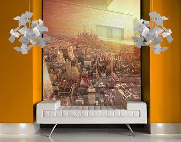 Fensterfolie - XXL Fensterbild Goldene Stadt - Fenster Sichtschutz