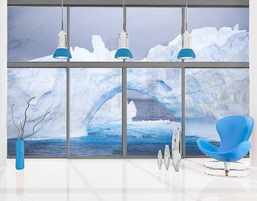 Fensterfolie - XXL Fensterbild Antarktischer Eisberg - Fenster Sichtschutz