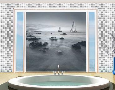 Fensterfolie - XXL Fensterbild Segelschiffe im Ozean II - Fenster Sichtschutz