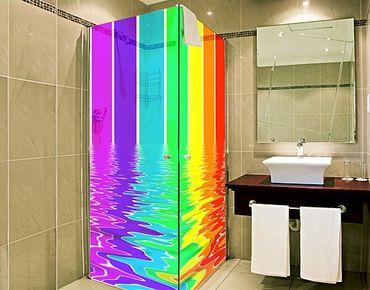 Fensterfolie - XXL Fensterbild Rainbow Coloured - Fenster Sichtschutz