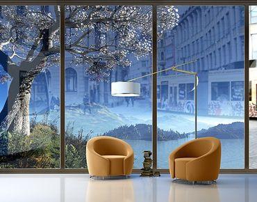 Fensterfolie - XXL Fensterbild Winter Fairytale - Fenster Sichtschutz