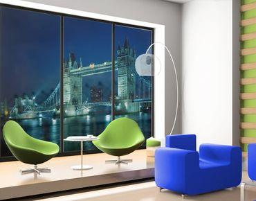 Fensterfolie - XXL Fensterbild Tower Bridge - Fenster Sichtschutz