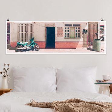 Poster - Mini Supermarkt Vintage - Panorama Querformat