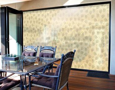 Fensterfolie - XXL Fensterbild Weiße Strandblumen - Fenster Sichtschutz