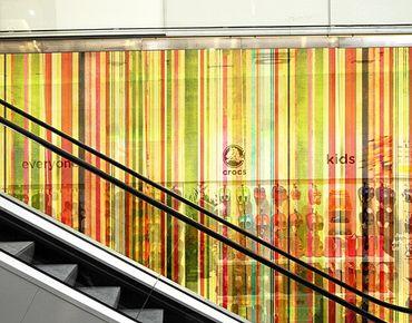 Fensterfolie - XXL Fensterbild Streaky III - Fenster Sichtschutz