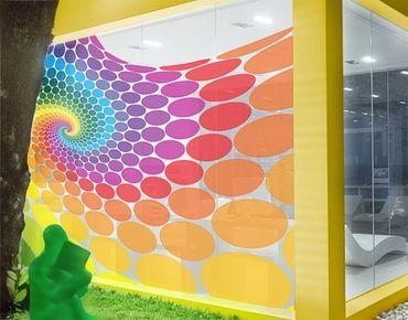 Fensterfolie - XXL Fensterbild Magic Points - Fenster Sichtschutz