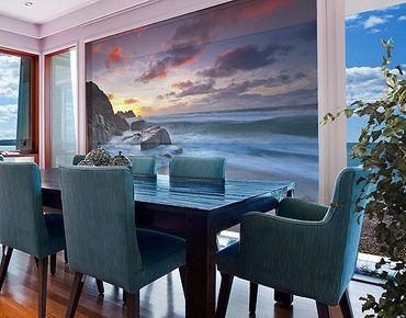 Fensterfolie - XXL Fensterbild Am Meer in Cornwall - Fenster Sichtschutz