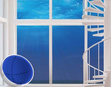 Fensterfolie - XXL Fensterbild Arctic Sun - Fenster Sichtschutz