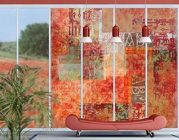 Fensterfolie - XXL Fensterbild Schriftmuster - Fenster Sichtschutz