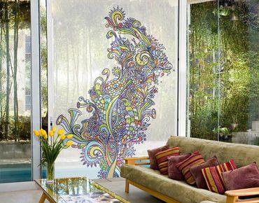 Fensterfolie - XXL Fensterbild Blütenrausch - Fenster Sichtschutz