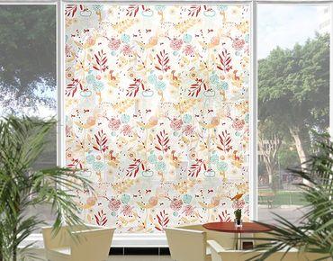 Fensterfolie - XXL Fensterbild Spring Garden - Fenster Sichtschutz