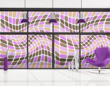 Fensterfolie - XXL Fensterbild Dancing Squares - Fenster Sichtschutz