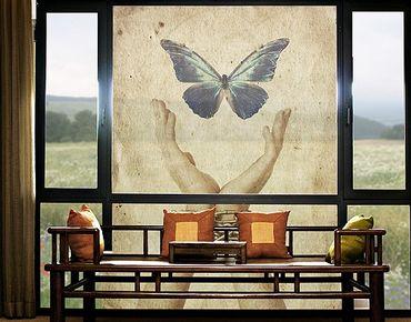 Fensterfolie - XXL Fensterbild Flieg, Schmetterling - Fenster Sichtschutz