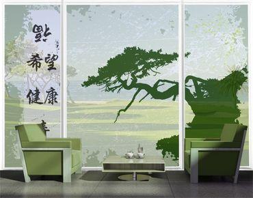 Fensterfolie - XXL Fensterbild No.CG79 Chinese Signs - Fenster Sichtschutz