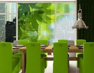 Fensterfolie - XXL Fensterbild Green Ambiance III - Fenster Sichtschutz