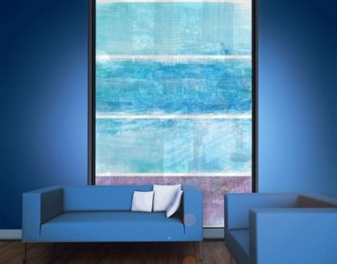 Fensterfolie - XXL Fensterbild Colour Harmony Blue - Fenster Sichtschutz