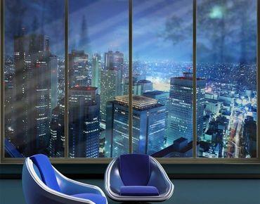 Fensterfolie - XXL Fensterbild Die Atmosphäre Tokios - Fenster Sichtschutz